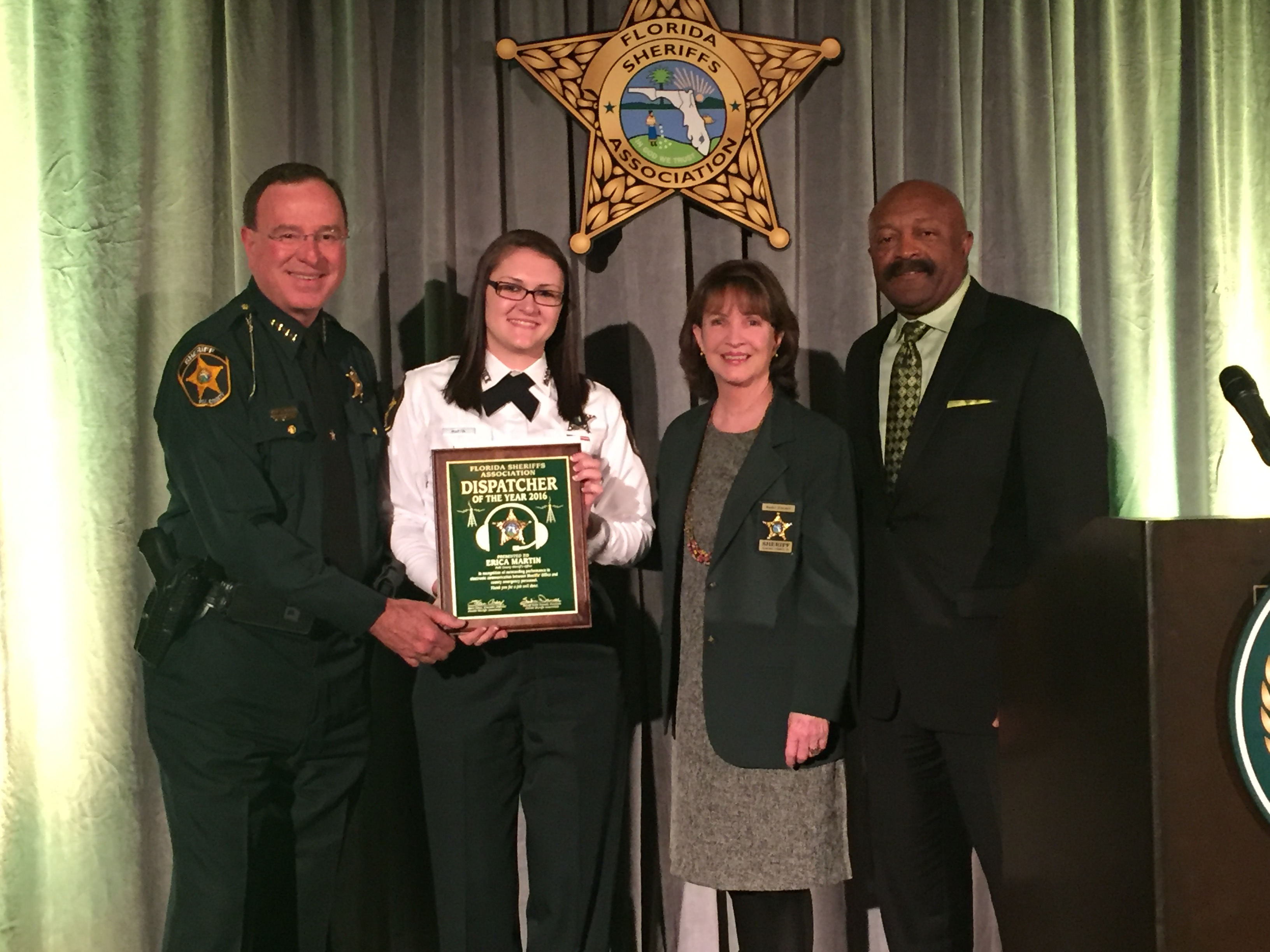 February 3 2016 The Florida Sheriffs Ociation Announced Today That Communications Officer Erica Martin Of Polk County Sheriff S Office