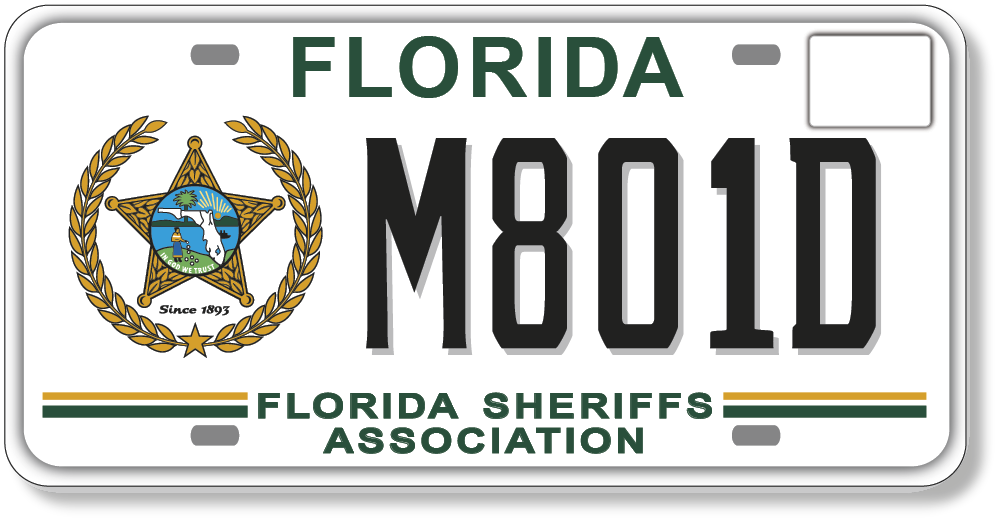 Florida Sheriffs Association Specialty plate
